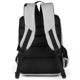BUBM Tas Ransel Laptop Sekolah Backpack - L166 - Gray - 4