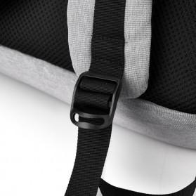 BUBM Tas Ransel Laptop Sekolah Backpack - L166 - Gray - 6