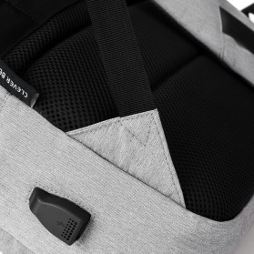 BUBM Tas Ransel Laptop Sekolah Backpack - L166 - Gray - 7