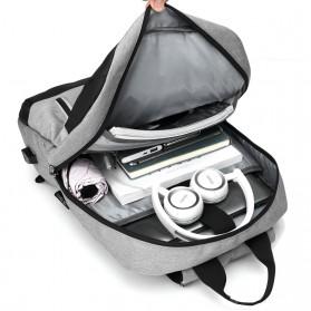 BUBM Tas Ransel Laptop Sekolah Backpack - L166 - Gray - 8