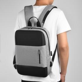 BUBM Tas Ransel Laptop Sekolah Backpack - L166 - Gray - 9