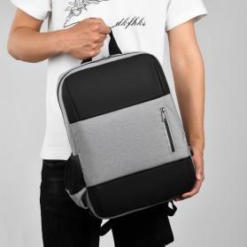 BUBM Tas Ransel Laptop Sekolah Backpack - L166 - Gray - 10