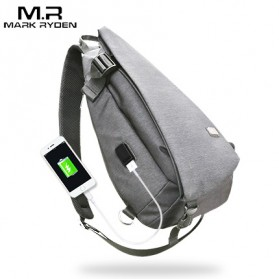 Mark Ryden Tas Selempang Crossbody Bag dengan USB Charger Port - MR5975 - Gray