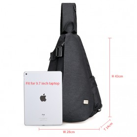 Mark Ryden Tas Selempang Crossbody Bag dengan USB Charger Port - MR5975 - Gray - 2