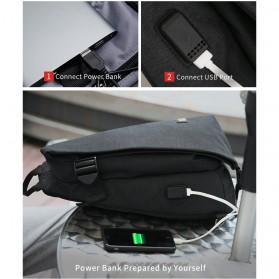 Mark Ryden Tas Selempang Crossbody Bag dengan USB Charger Port - MR5975 - Gray - 6