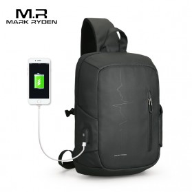 Mark Ryden Tas Selempang Crossbody Bag dengan USB Charger Port - MRK9087 - Black - 1