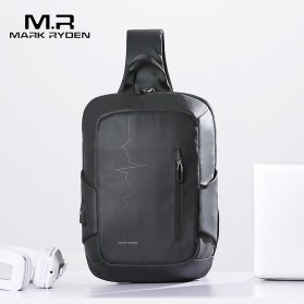 Mark Ryden Tas Selempang Crossbody Bag dengan USB Charger Port - MRK9087 - Black - 5