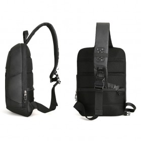 Mark Ryden Tas Selempang Crossbody Bag dengan USB Charger Port - MRK9087 - Black - 9