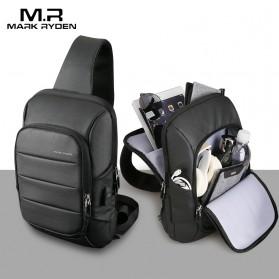 Mark Ryden Tas Selempang Crossbody Bag dengan USB Charger Port - MR-P9084 - Black - 2