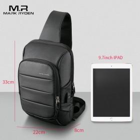 Mark Ryden Tas Selempang Crossbody Bag dengan USB Charger Port - MR-P9084 - Black - 3