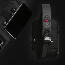 Mark Ryden Tas Selempang Crossbody Bag dengan USB Charger Port - MR-P9084 - Black - 4