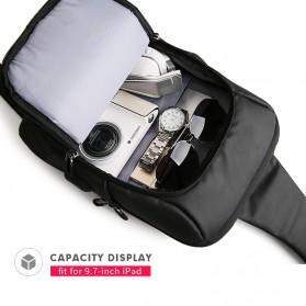 Mark Ryden Tas Selempang Crossbody Bag dengan USB Charger Port - MR-P9084 - Black - 5