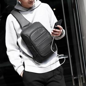 Mark Ryden Tas Selempang Crossbody Bag dengan USB Charger Port - MR-P9084 - Black - 7
