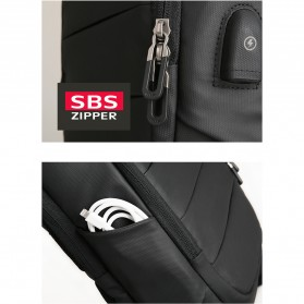 Mark Ryden Tas Selempang Crossbody Bag dengan USB Charger Port - MR-P9084 - Black - 9