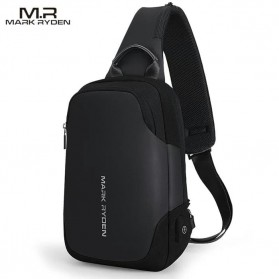 Mark Ryden Tas Sling Bag dengan USB Charger Port - MR7056 - Black
