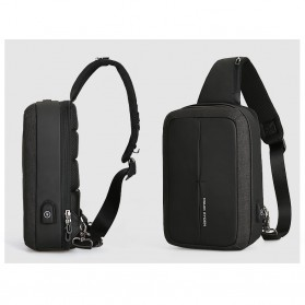 Mark Ryden Tas Selempang Anti Maling Crossbody Bag dengan USB Charger Port - MR7011 - Black/Gray - 3