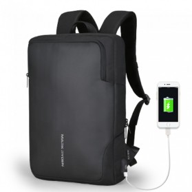 Mark Ryden Tas Ransel Laptop dengan USB Charger Port - MR6960 - Black