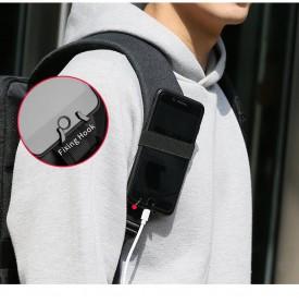 Mark Ryden Tas Ransel Laptop dengan USB Charger Port - MR6960 - Black - 5