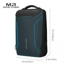 Mark Ryden Tas Ransel Laptop dengan USB Charger Port - MR9031 - Black - 5