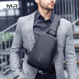 Mark Ryden Tas Selempang Crossbody Bag dengan USB Charger Port - MR7191 - Black