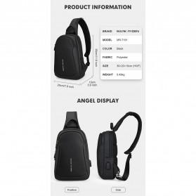 Mark Ryden Tas Selempang Crossbody Bag dengan USB Charger Port - MR7191 - Black - 10