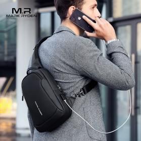 Mark Ryden Tas Selempang Crossbody Bag dengan USB Charger Port - MR7191 - Black - 2