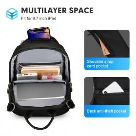 Mark Ryden Tas Selempang Crossbody Bag dengan USB Charger Port - MR7191 - Black - 4