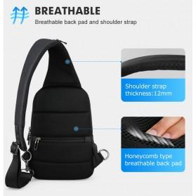 Mark Ryden Tas Selempang Crossbody Bag dengan USB Charger Port - MR7191 - Black - 7