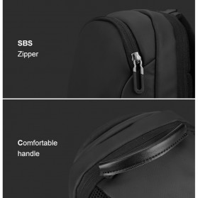 Mark Ryden Tas Selempang Crossbody Bag dengan USB Charger Port - MR7191 - Black - 9