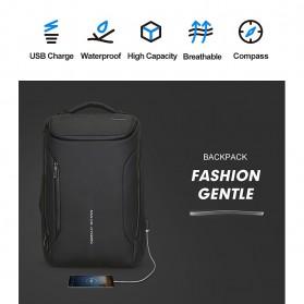 Mark Ryden Tas Ransel Laptop dengan USB Charger Port Upgrade Version - MR9031 - Black - 6