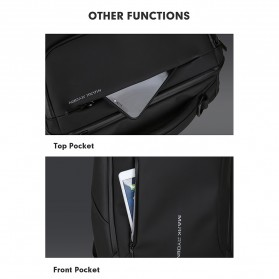 Mark Ryden Tas Ransel Laptop dengan USB Charger Port Upgrade Version - MR9031 - Black - 10
