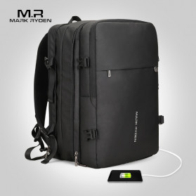 Trend Fashion Pria Terbaru - Mark Ryden Tas Ransel Laptop Multi-layer Space 17 Inch dengan USB Charger Port - MR8057 - Black