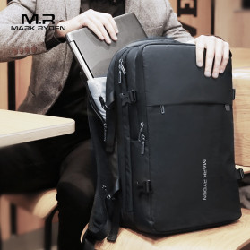Mark Ryden Tas Ransel Laptop Multi-layer Space 17 Inch dengan USB Charger Port - MR8057 - Black - 2