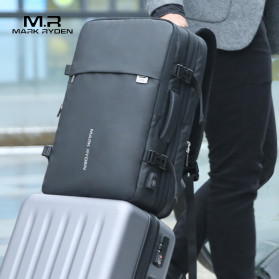 Mark Ryden Tas Ransel Laptop Multi-layer Space 17 Inch dengan USB Charger Port - MR8057 - Black - 3