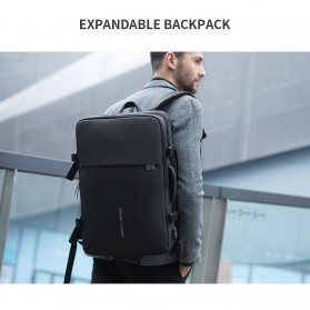 Mark Ryden Tas Ransel Laptop Multi-layer Space 17 Inch dengan USB Charger Port - MR8057 - Black - 5