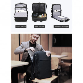 Mark Ryden Tas Ransel Laptop Multi-layer Space 17 Inch dengan USB Charger Port - MR8057 - Black - 8