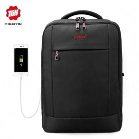 Tigernu Tas Ransel Laptop Bisnis dengan USB Charger Port - T-B3331 - Black