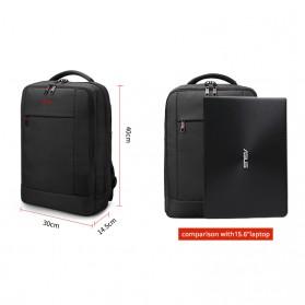 Tigernu Tas Ransel Laptop Bisnis dengan USB Charger Port - T-B3331 - Black - 2