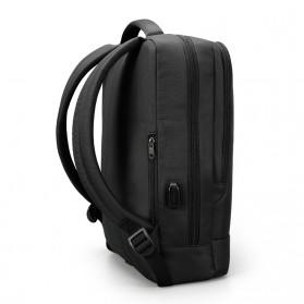 Tigernu Tas Ransel Laptop Bisnis dengan USB Charger Port - T-B3331 - Black - 4