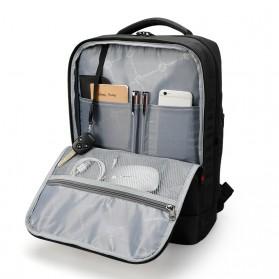 Tigernu Tas Ransel Laptop Bisnis dengan USB Charger Port - T-B3331 - Black - 5