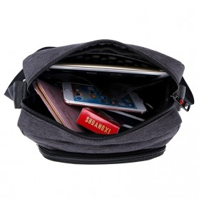 Tigernu Tas Selempang Crossbody Messenger Bag Pria - T-L5105 - Black - 2