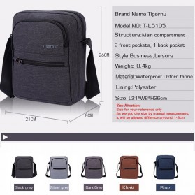 Tigernu Tas Selempang Crossbody Messenger Bag Pria - T-L5105 - Black - 7