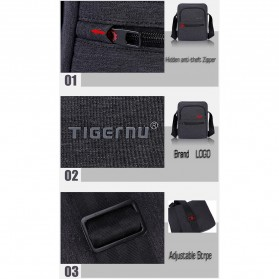 Tigernu Tas Selempang Crossbody Messenger Bag Pria - T-L5105 - Black - 10