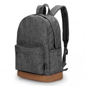 Laptop / Notebook - TINYAT Tas Ransel Sekolah Canvas - T101 - Gray