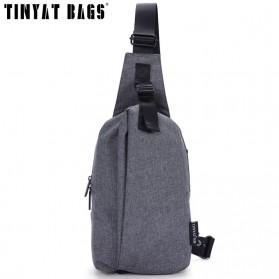 TINYAT Tas Selempang Sling Bag Crossbody Messenger - T610 - Dark Gray