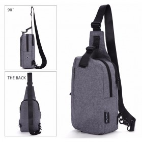 TINYAT Tas Selempang Sling Bag Crossbody Messenger - T610 - Dark Gray - 2