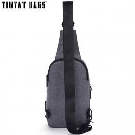 TINYAT Tas Selempang Sling Bag Crossbody Messenger - T610 - Dark Gray - 3