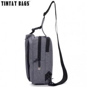 TINYAT Tas Selempang Sling Bag Crossbody Messenger - T610 - Dark Gray - 4