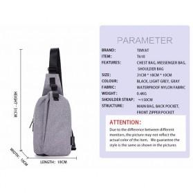 TINYAT Tas Selempang Sling Bag Crossbody Messenger - T610 - Dark Gray - 7
