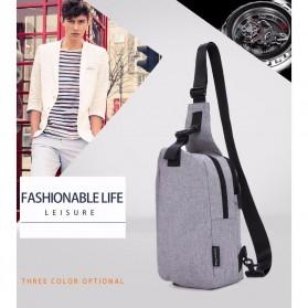 TINYAT Tas Selempang Sling Bag Crossbody Messenger - T610 - Dark Gray - 8